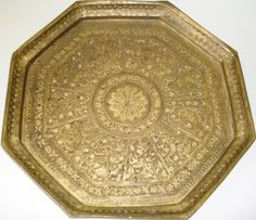 Old Indian brass tray