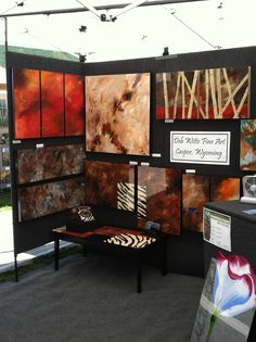My booth at the Aspen Art Festival last July