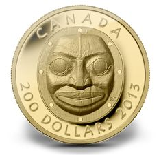 Pièce en or pur à très haut relief - Masque Grandmother Moon - Tirage : 500 Canadian Coins, Canadian History, Numismatic Coins, Aboriginal Artists, Mint Coins, Gold And Silver Coins, Sacred Symbols, Coins For Sale, World Coins