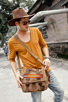 Genuine-Cow-Leather-Canvas-Bag-Messenger-Bag-Canvas-Bag-Laptop-Bag-9