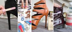 10 tips para arreglar tus zapatos y hacerlos lucir como nuevos Clean Tennis Shoes, Explosion Box, Beauty Hacks, Heels, Womens Fashion, Style, Tips, Outfits, Shoes