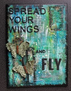 Lenas kort: Spread your wings Mix Media, Wings, Doodles, Cover, Blog, Cards, Blogging, Maps, Feathers