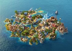 Facebook #île #illustration