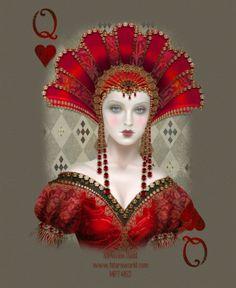 Crystalex Graphic Designs~Websets~Linkware~Maxine Gadd~Queen of Hearts