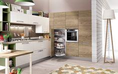 Cucina angolare moderna - Composizione 0467 - Vista laterale