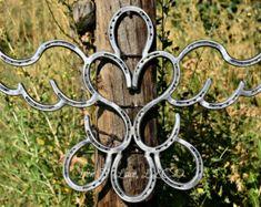 Faith N' Love Double horseshoe heart cross by Ironnlace1 on Etsy