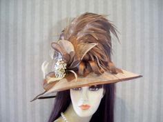Hey, I found this really awesome Etsy listing at https://www.etsy.com/listing/268725675/kentucky-derby-hat-preakness-carmel