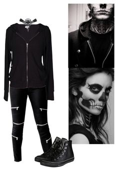 """""""Tate Langdon Inspired"""" by electricbalancekilljoy ❤ liked on Polyvore featuring GUESS, Velvet by Graham & Spencer, Converse, women's clothing, women's fashion, women, female, woman, misses and juniors"""