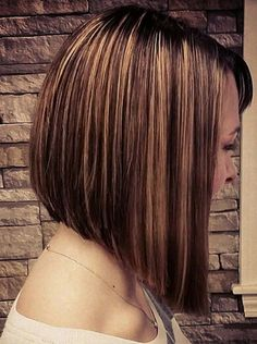 Inverted Bob Hairstyle-Stunning Bob Hairstyles With Highlights 2018