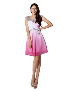 e798487e5 Party Gowns, Prom Party Dresses, Homecoming Dresses, Evening Dresses, Short  Prom, Shorts, Pink, Chiffon Dress, Fashion