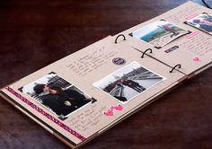 Álbum de Scrapbooking Inkee: ¡Que vivan los recuerdos! | No me toques las Helvéticas | Blog sobre diseño gráfico y publicidad Love Scrapbook, Photo Album Scrapbooking, Scrapbook Journal, Scrapbook Albums, Bf Gifts, Boyfriend Gifts, Cute Gifts, Album Photo, Photo Book