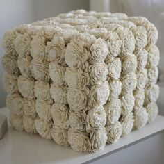 """Large Flower Box - This box is handmade and covered in over 120 sola wood flowers. Select from 30 different trending colors. Display at your wedding, and after in your home! Wedding flowers should last as long as your love. This box is 10""""  by 10"""" and looks great by itself, or bundled together. Add this box as an accent."""