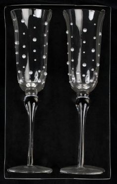 These are the Champagne flutes that i bought for cody and i. They are David Tutara I LOVE THEM!