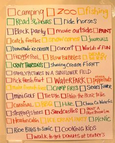 Summer list...what a great idea!