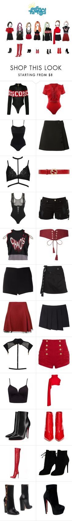 """""""Show Music Core:""""Comeback Stage"""" G.R.L.Z-Whatta Man + Win Speech (emmotional) and Encore"""" by ygentertainment on Polyvore featuring mode, GCDS, Wolford, Misha Nonoo, Boohoo, Gucci, Chantal Thomass, Amapô, Vivienne Westwood Anglomania et Maison Boinet"""