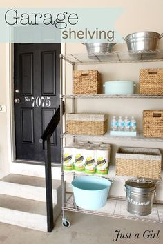 think i already have this pinned, but just in case!  i like this idea for extrage storage for pantry stuff!  and the giant thing of food kept outside for the cats.  lovely. #xmas_present