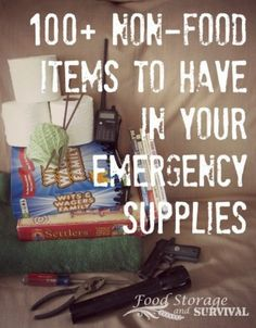 100 Non-Food Items To Have In Your Emergency Supplies   http://homestead-and-survival.com/100-non-food-items-emergency-supplies/   It is critical to know what items to start storing now to prepare for an emergency in the future.