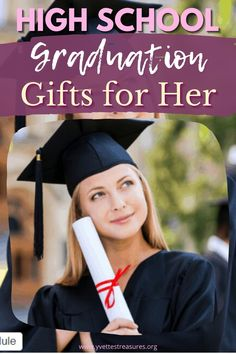High School Graduation Gifts For Her - The Best Grad Gift Ideas to celebrate her momentous achievement. See our great high school graduation gifts for girls today! #graduationgiftsforher #giftsforher Great Gifts For Mom, Unique Gifts For Her, Gifts For Girls, Bucket List Ideas For Women, High School Graduation Gifts, Gift Guide For Him, Kids And Parenting, Career, Content