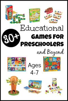 Games for Preschoolers - many of them are fabulous for reinforcing early math skills