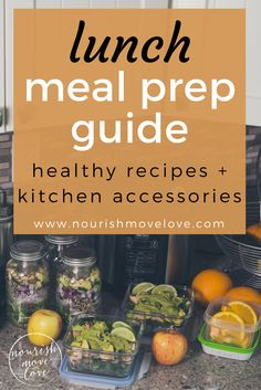 Ultimate meal prep guide to eat healthy all week. Clean and easy recipes; 3 lunch meal prep recipes, including homemade green dressing, green goddess quinoa salad, blackened salmon taco bowls.
