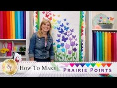 How to Make Prairie Points | a Shabby Fabrics Quilting Tutorial - YouTube