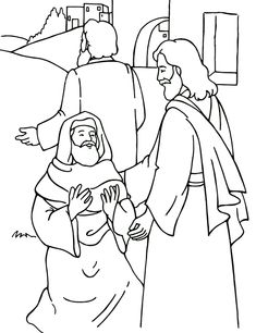 Jesus Heals Ten Lepers Coloring Page