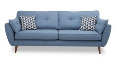 French Connection 3 Seater Sofa Zinc Express Smooth angled arms, rounded seats and button-back cushions combine to create the ultimate in relaxed cool.