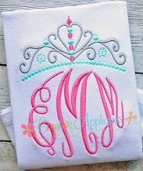 Princess Crown - 10 Sizes!   What's New   Machine Embroidery Designs   SWAKembroidery.com Creative Appliques