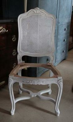Louis XIV Style Dining Chair with Cane Back