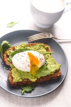 This easy poached egg and avocado toast takes less than 10 minutes from start to finish! A healthy whole food breakfast, lunch or dinner!