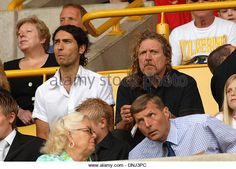Rock singer Robert Plant and his son Logan watching Wolverhampton Wanderers 2006 - Stock Image