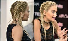 dutch braids Rita Ora