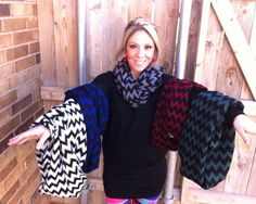 Fabulous Chevron Infinity Scarves - Several Colors