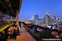 How many cities in the world can pretend to have more rooftop bars than Bangkok? In our list you can find places to lounge back with a loved one, soak up the city in a full sweep, and even party late into Go Guide, Drink List, Best Rooftop Bars, Stunning View, Beautiful, Bangkok, Night Life, Times Square, Thailand