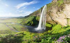 Feen und Elfen auf Island elfen  wasserfall
