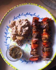#chile #anticuchos #globalcook #foodblog #bbq #grill #steak #mayonnaise #potato salad # surf and turf