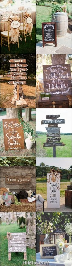 Clever Wedding Signs Your Guests Will Get A Kick Out Of / http://www.himisspuff.com/rustic-wedding-signs-ideas/