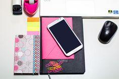 ReOrganizacja - Planowanie biuro samsung note II notek koperta spinacze kalendarz agenda taśma klejąca zszywacz myszka | Blog Spod kocyka