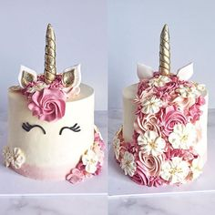 Best Birthday Party Decoracion For Adults Men Dessert Tables Ideas Beautiful Cakes, Amazing Cakes, Unicorn Birthday Parties, Cake Birthday, Unicorn Party, Birthday Ideas, Birthday Cake With Flowers, 4th Birthday, Girl Cakes