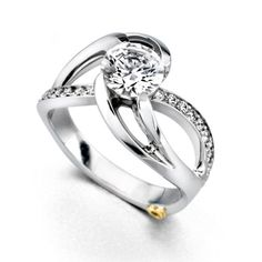 ENGAGEMENT - Mark Schneider Kismet 1.19cttw Twisted Split Shank Diamond Engagement Ring