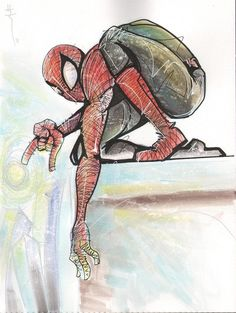 Spider-Man sketch by Sarah Richard. June, 2011.