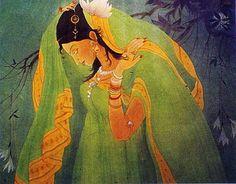 Gloomy Radhika: One of Chughtai's early works.