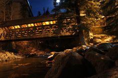 Vail Village in the moonlight