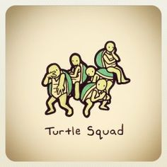 Cute Turtle Drawings, Cute Turtles, Funny Wallpapers, Tmnt, Animals And Pets, Squad, Graphic Design, Artists, Tattoo