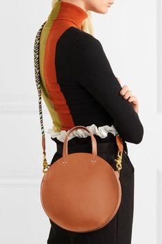 Tan leather (cow) Zip fastening along top  Weighs approximately 1.3lbs/ 0.6kg