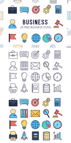Business Vector Free Icon Set is a collection of thematic icons Design Ios, Icon Design, Flat Design, Dashboard Design, Interface Design, User Interface, Icon Set, Vector Icons, Vector Free