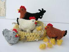 Crochet chicken   by Lalinda.pl