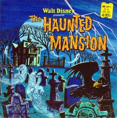Walt Disney presents The Haunted Mansion a Disneyland Record and Book Written by Walt Disney Productions, 1977 24 Pp. Softcover A gorgeous little book based on the great Disney ride. In good condition but missing record. Retro Halloween, Halloween Images, Disney Halloween, Halloween Signs, Halloween Ideas, Happy Halloween, Creepy Disney, Disney Horror, Halloween History