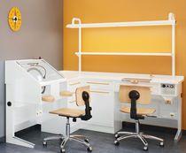 Puesto de trabajo para laboratorio dental doble