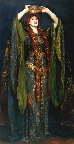 Dame Ellen Terry,GBE (1847–1928) as Lady Macbeth, 1889 ~ Painted by John Singer Sargent. Leading Shakespearean Actress in Britain. Born into family of actors; began acting as a child in Shakespeare plays; continued as a teen, in London & on tour. Wikipedia http://www.flickr.com/photos/32357038@N08/3307414412/